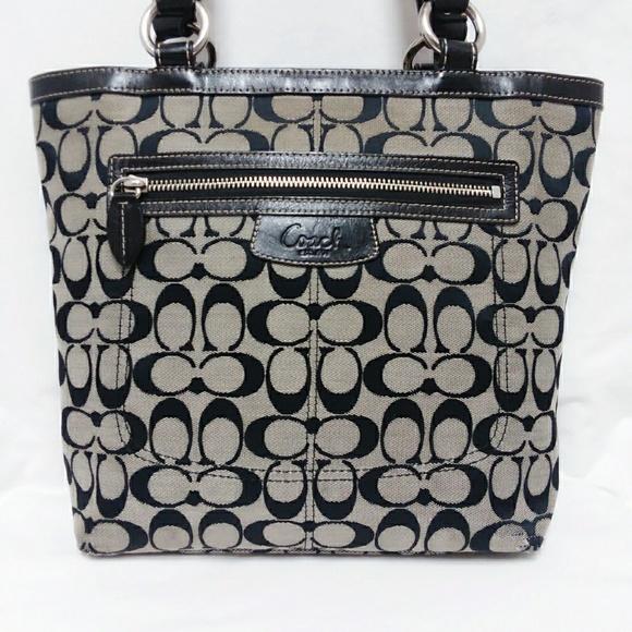 Coach Handbags - Coach Black Penelope Monogram Tote Bag